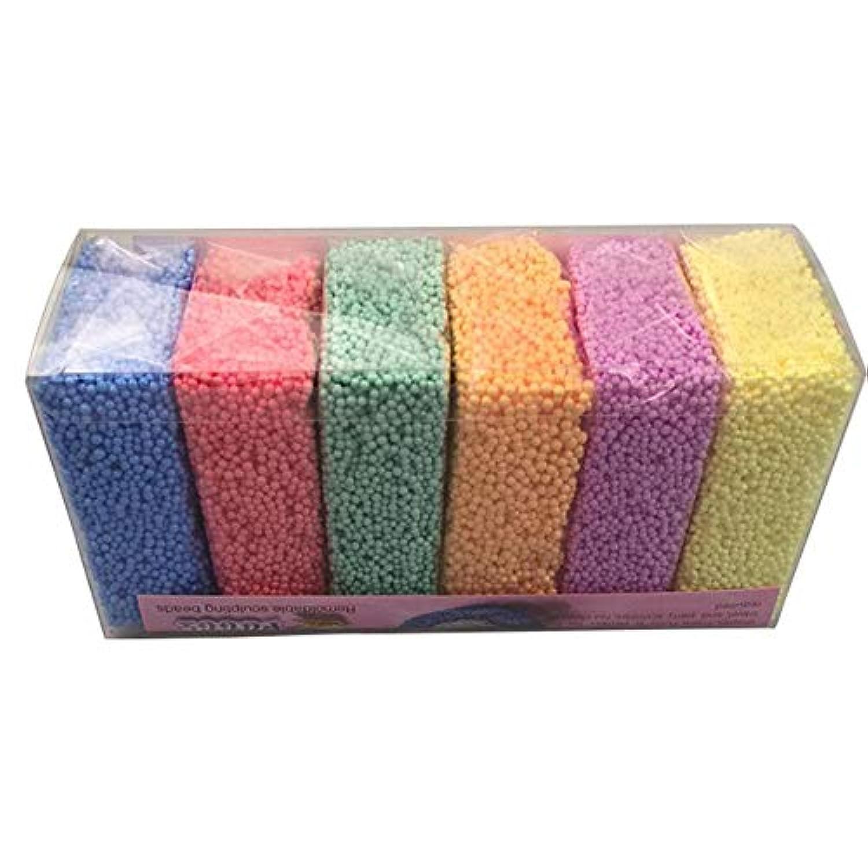 プラスチシン 真珠形 フォーム ゴム粘土 クリスタル粘土 知能開発 智育 子供の教育玩具魔法の真珠フォーム油状のスノーフレークフォーム超可塑性の超軽粘土(6色組)