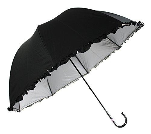 日光を遮断! 晴雨兼用 日傘 かわいいドーム型 生地裏シルバ...