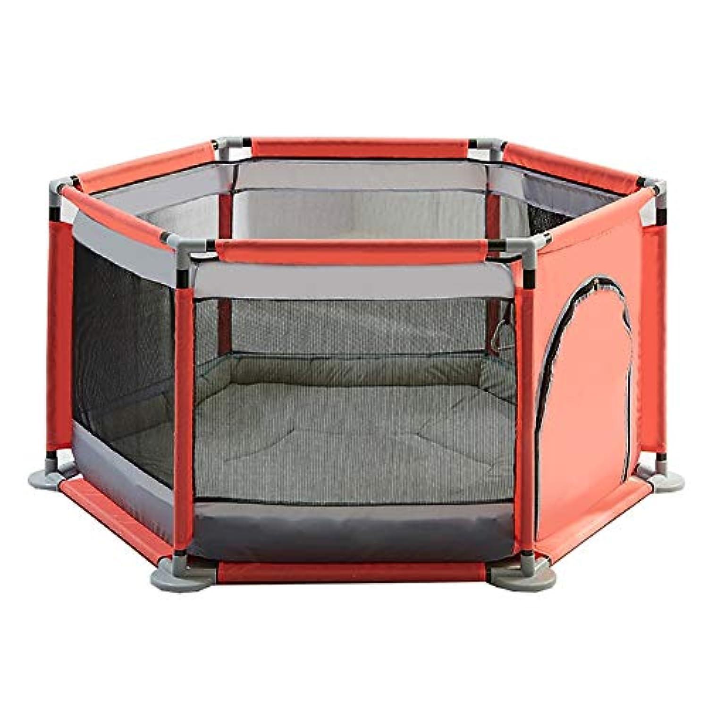 赤ちゃんの再生Playpen子供保護フェンスの子供赤ちゃんの幼児のフェンスクロールマットマットとマリンボールとホーム屋内遊び場 (色 : Gray)