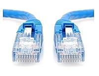 Mocase Cat5eイーサネットパッチケーブルブルー - RJ45コンピュータネットワーキングコード(70フィート)