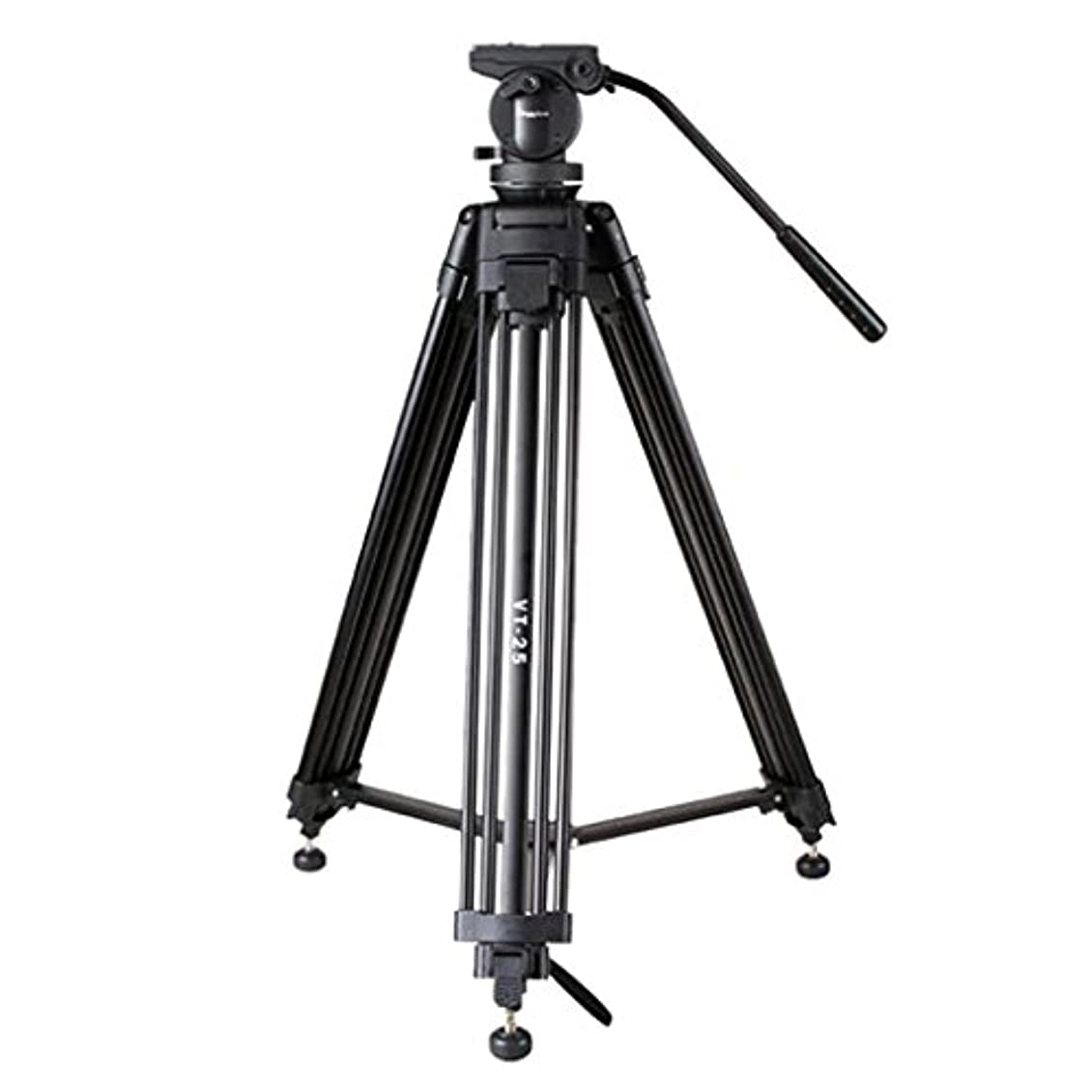 付き添い人プランターにじみ出る61インチ/ 155cmデジタル一眼レフ用フルードヘッド付きプロフェッショナルアルミニウムカメラビデオ三脚