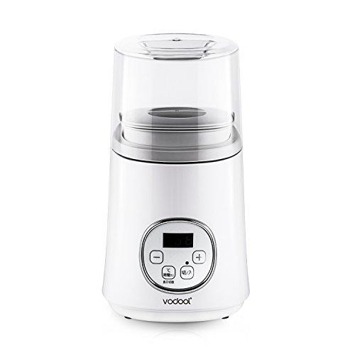 ヨーグルトメーカー Vodool 甘酒 塩麹メーカー 1L牛乳パックで作れる 無階段温度調整 48時間までタイマー機能 ホームプレミアム