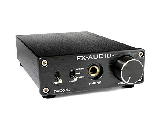 FX-AUDIO   DAC-X6J[ブラック]高性能ヘッドフォンアンプ搭載ハイレゾ対応DAC H49-F B01GRZ0268 1枚目