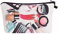 Kukubird (ロンドン) ユニコーン絵文字フラミンゴ動物メイクアップバッグウォッシュバッグトイレタリー化粧品財布鉛筆ペンホルダーオーガナイザーポーチケース-メイクアップサークル