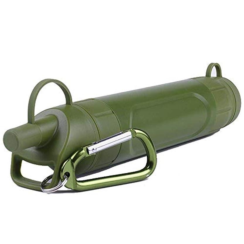 刈る助けになる規範ポータブルABS水フィルタキャンプハイキング 携帯用アウトドア浄水器 直飲み 浄水器 個人的な水フィルタ、ポータブルな水濾過ストロー浄化装置、キャンプし、ハイキング、バックパックを背負って旅行する