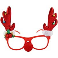 BESTOYARD クリスマス メガネフレーム 鹿の角 赤い クリスマスパーティー 仮装 コスプレ プレゼント
