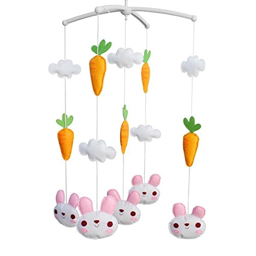 困った家ハブブ幼児、動物のTpye、B02のための幼児部屋の装飾のおもちゃのまぐさMobileの移動式音楽的なおもちゃ