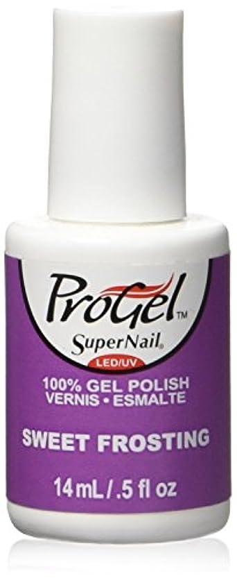 おしゃれじゃない粉砕する未亡人SuperNail ProGel Gel Polish - Sweet Frosting - 0.5oz / 14ml