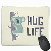 ハグライフマウスパッドカスタマイズ長方形滑り止めラバーゲームマウスパッド