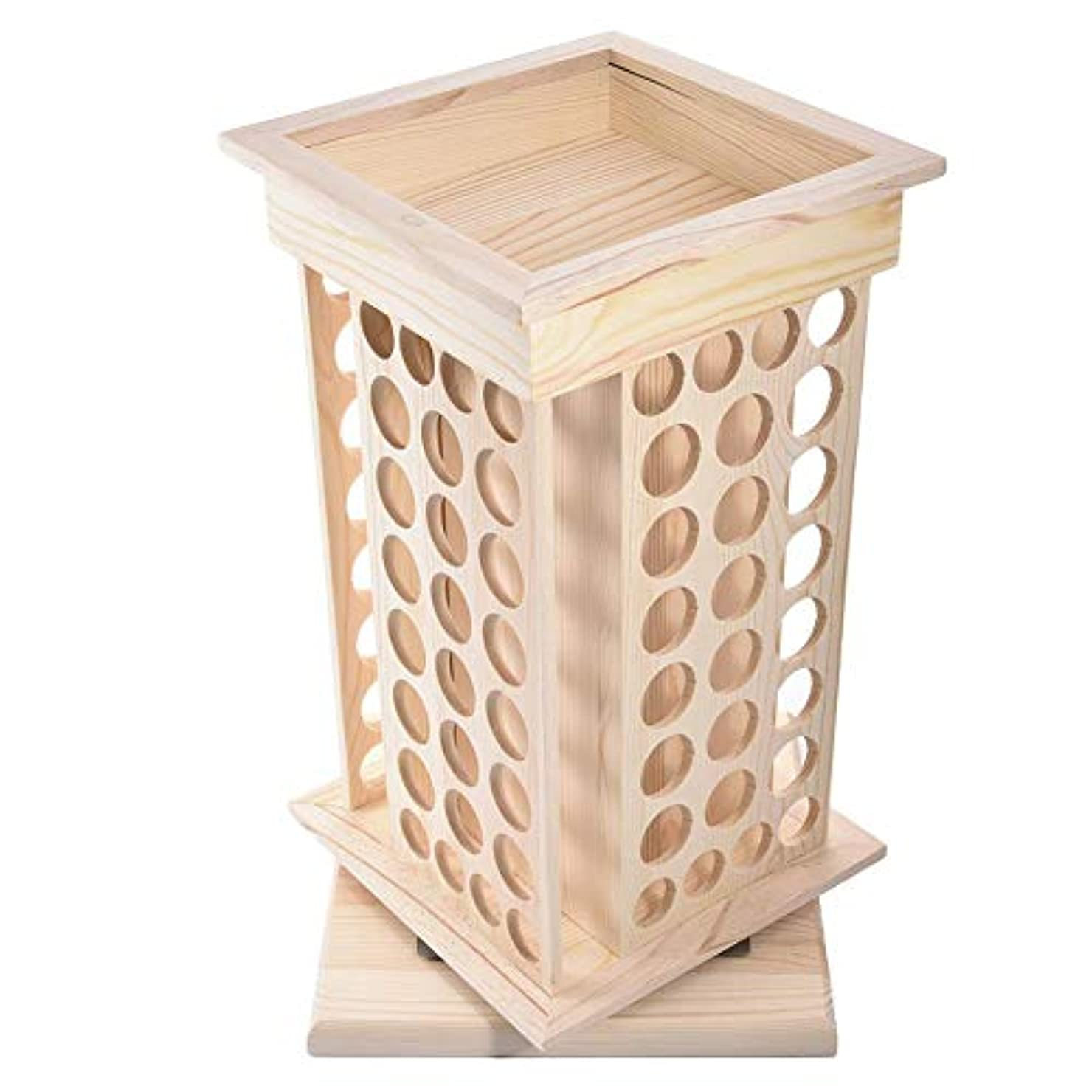ホースコークス表面Pursue アロマオイルスタンド 精油収納 香水展示スタンド エッセンシャルオイル収納 木製 104本用