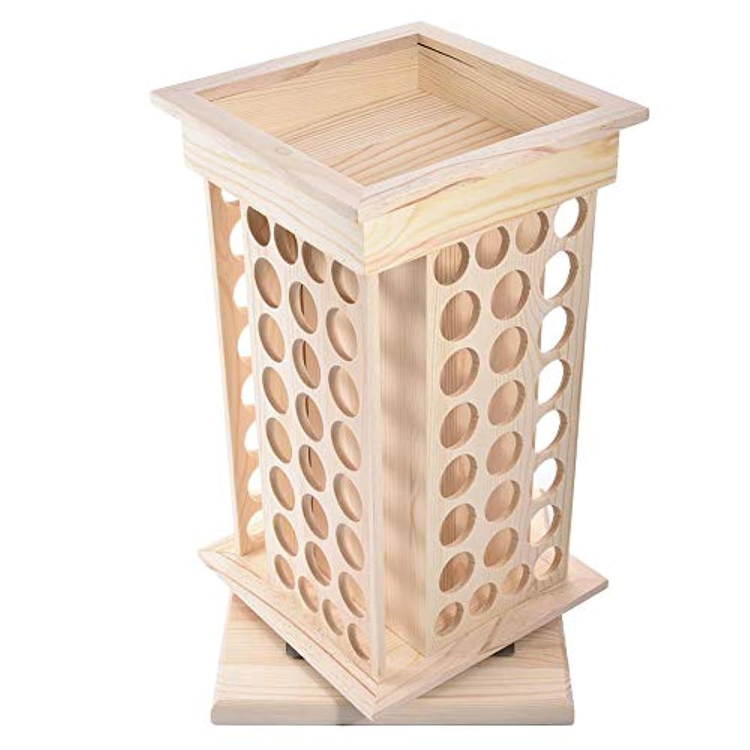 侵入する錫うまくやる()Pursue アロマオイルスタンド 精油収納 香水展示スタンド エッセンシャルオイル収納 木製 104本用