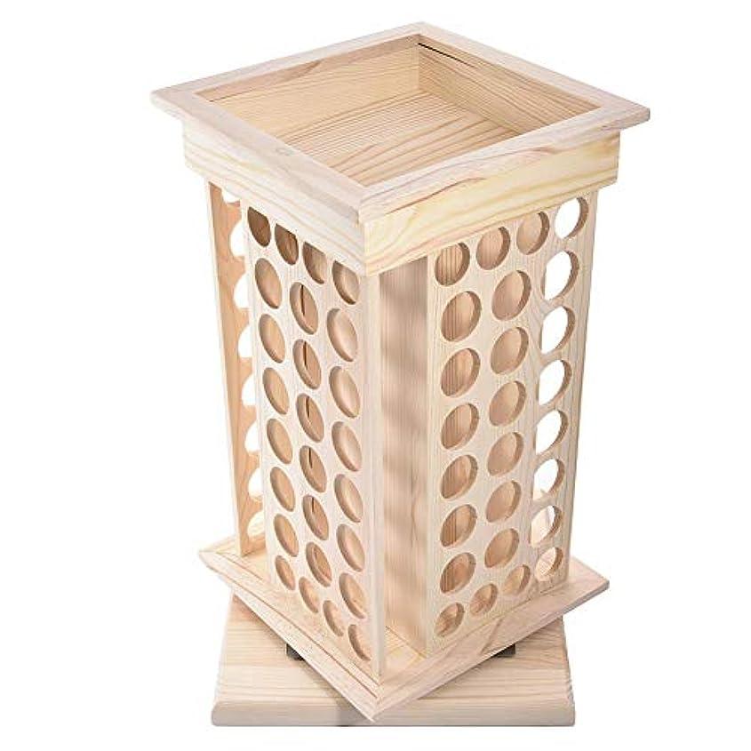 安全でない君主論争的Pursue アロマオイルスタンド 精油収納 香水展示スタンド エッセンシャルオイル収納 木製 104本用