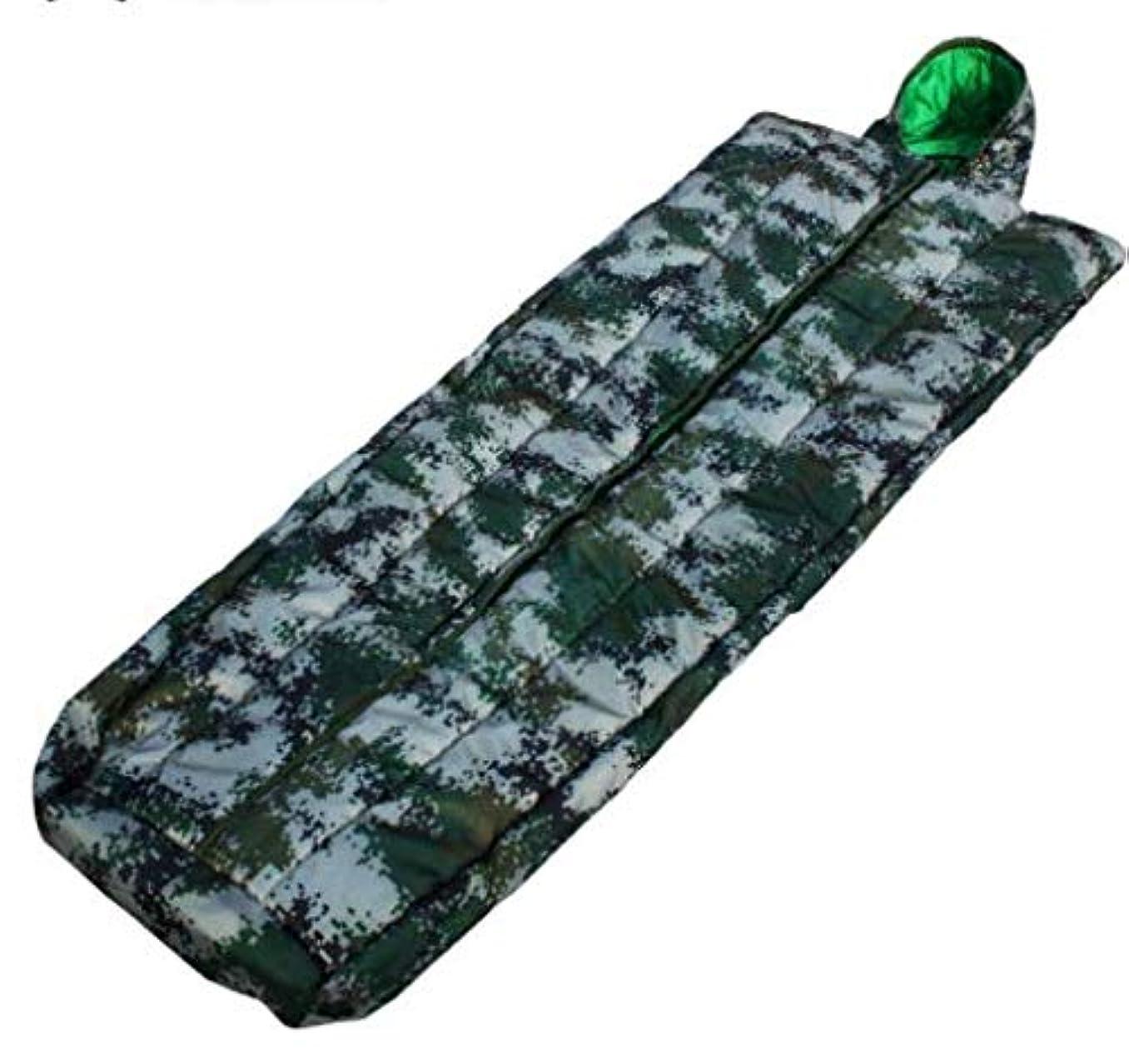 一月不良候補者迷彩コート寝袋シングル迷彩寝袋厚みのある迷彩寝袋
