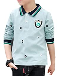 f7e5937f98f2f ININUK ボーイズ 男の子 コットン 長袖 ポロシャツ 襟付き tシャツ ボダン ファション 薄手 子供服 スクール