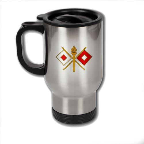 ステンレススチール米国陸軍信号隊ブランチコーヒーMug with Insignia