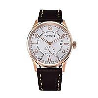 PARNIS 42MMホワイトダイヤル発光ポインターミネラルガラス3ATM耐水性Seagull ST1731自動巻きムーブメントメンズ腕時計 (Model-1)