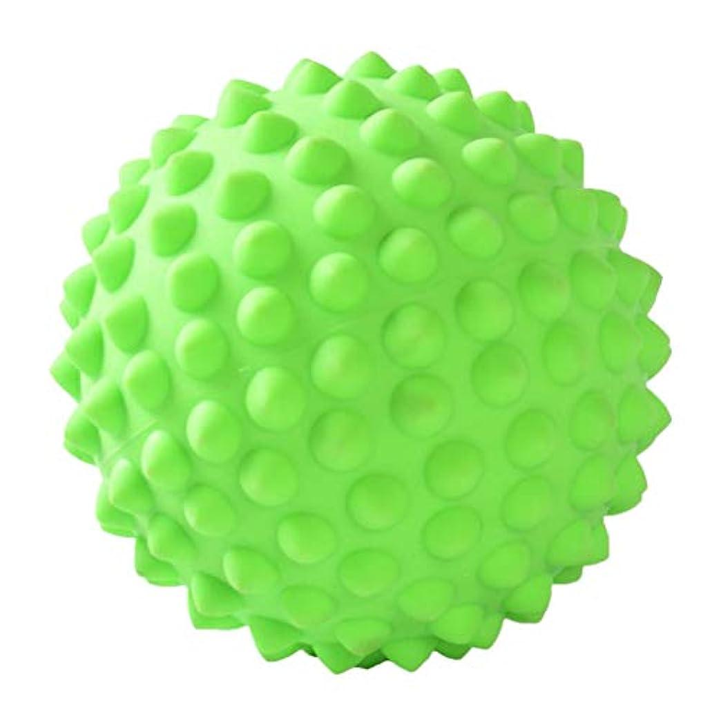 チャーミングストライプ減少マッサージボール ポイントマッサージ ヨガ道具 3色選べ - 緑, 説明のとおり
