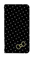スマホケース 手帳型 freetel raijin ケース/0067-D. ドット背景ブラック/freetel raijin ケース 手帳 人気/[FREETEL RAIJIN]/フリーテル ライジン ベルトなし