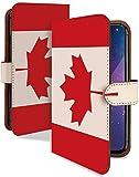 ARROWS NX F-06E ケース 手帳型 国旗 カナダ かっこいい 世界の国旗 スマホケース アローズエヌエックス アロウズ 手帳 カバー ARROWSNX f06e f06eケース f06eカバー 旗 フラッグ はた カナダ国旗 [国旗 カナダ/t0092d]