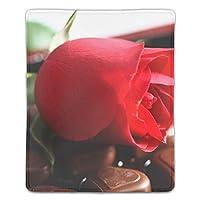 バラの花キャンディーマウスパッド ゲーミング マウスパッド キーボードパッド パソコンデスクパッド 防水 18*22cm