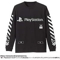 """プレイステーション 袖リブロングスリーブTシャツ""""PlayStation""""/BLACK-L"""