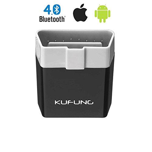 KUFUNG 自動車故障診断機OBD II 対応Bluetooth 4.0 超小型 配線不要 OBD...