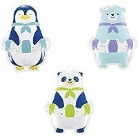真夏の暑さ対策 かわいい ひんやりアニマル3種セット ひえひえクールジェル (凍らせて使うタイプ) 【ペンギン クマ パンダ】保冷材