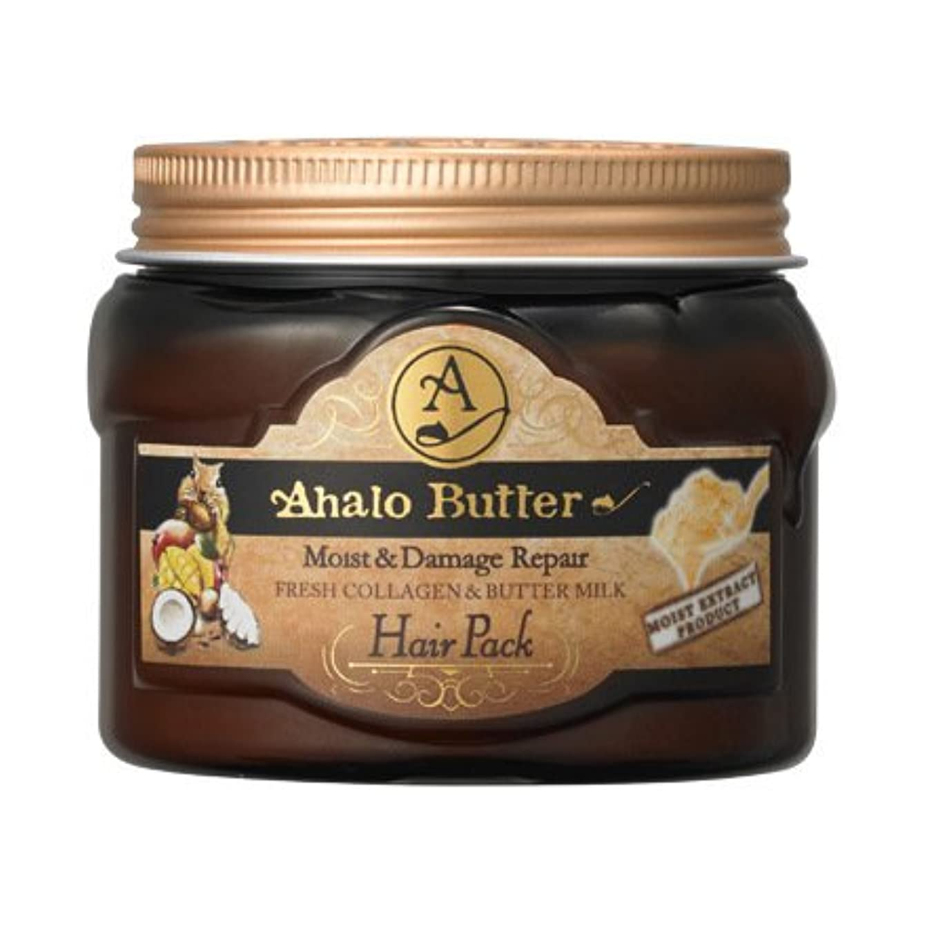 人里離れた誰の応用Ahalo butter(アハロバター) リッチモイスト 集中ヘアパック 150g
