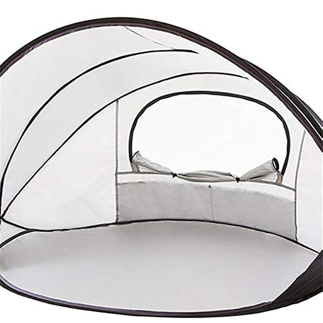名前を作る目的繊細紫外線日焼け止め用のポップアップビーチテント定格UPF 50+が含まれていますキャリートラベルバッグテントペグ2人用簡単折りたたみビーチシェルター、100%防水
