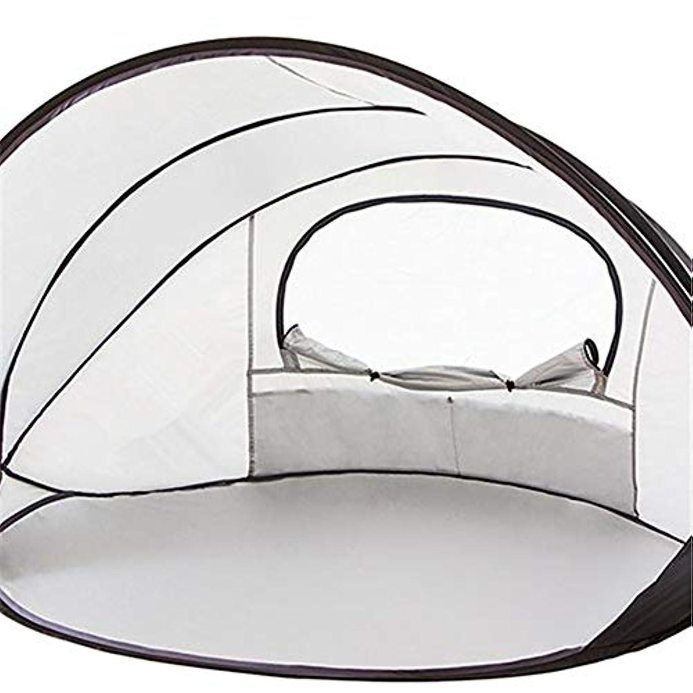 解読するどこか拮抗紫外線日焼け止め用のポップアップビーチテント定格UPF 50+が含まれていますキャリートラベルバッグテントペグ2人用簡単折りたたみビーチシェルター、100%防水