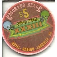 $ 5コロラドBelle Super日曜日1999 FootballパーティーカジノチップLaughlin Nevada Obsolete