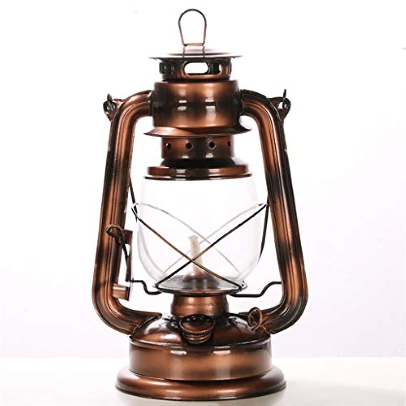 ティーンエイジャー無力財布レトロオイルランプ/灯油ランプ、28 cmヴィンテージランドキャンプランプ/馬ランプ、農場に適した装飾ウィンドランプ、キャンプ(コーヒー色)