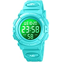 Kid Watch for Boy Girl Child Multi Function Digital LED Sport 50M Waterproof Electronic Analog Quartz Watches Gift (Mint Green)