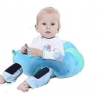gshoppinglifeベビーサポートシートソファ豪華ソフト動物型ベビーLearning to Sit椅子Keep Sitting姿勢快適0 – 3ヶ月の赤ちゃん ブルー