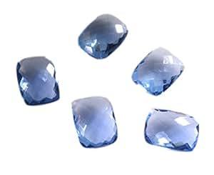 青色の多面的な宝石をカットする合成キュービックジルコニアタンザナイトCZルース宝石1個12×16ミリメートルのエメラルド