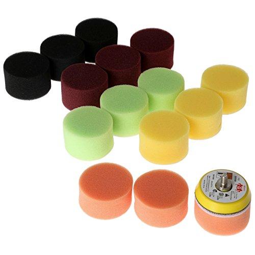 16個入りセット カー研磨用 スポンジパッド バフ研磨 ポリッシャー用 マジックスポンジ 多色 2インチ/50mm