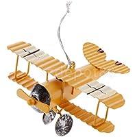 Boysお気に入りメタルイエロー複葉機航空機モデルおもちゃFigurine – イエローSmall