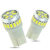 GOSMY T10 LED バルブ ホワイト 24連 3014SMD ポジションランプ ナンバー/ルームランプ 12V専用 (2個セット 白)