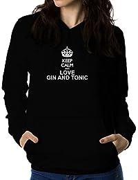 Keep calm and love Gin and tonic 女性 フーディー