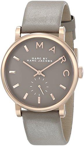 MARC BY MARC JACOBS マークバイマークジェイコブス 腕時計 Baker ベイカー グレー/ピンクゴールド×グレーレザーベルト MBM1266 【並行輸入品】