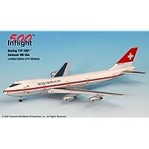 Swissair HB-IGA 747-200 Airplane Miniature Model Metal Die-Cast 1:500 Part# A015-IF5742009 by Genesis Worlwide [並行輸入品]