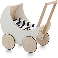 ooh noo toy pram(トイプラム) スロベニアの月形木製手押し車