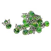 sharprepublic 12個 ペンダント エンジェルウィング DIYジュエリー 手作り 装飾 贈り物 全13種 - 深緑