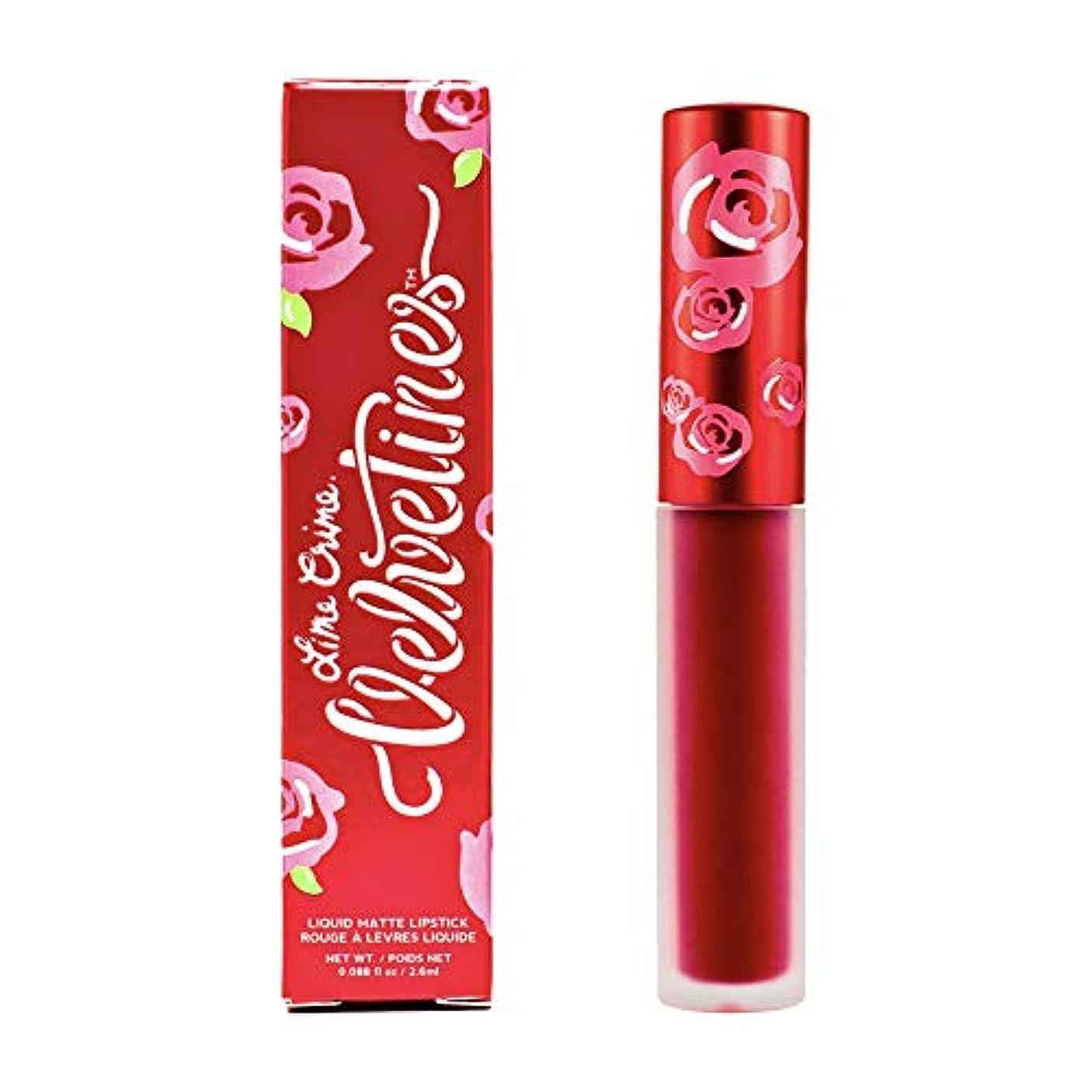 ホールドオール虎意気消沈したLime Crime Velvetines Long Lasting Liquid Matte Lipstick (Red Rose)