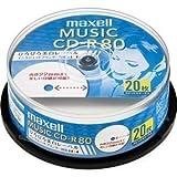 maxell 音楽用 CD-R 80分 インクジェットプリンタ対応ホワイト(ワイド印刷) 20枚 スピンドルケース入 CDRA80WP.20SP