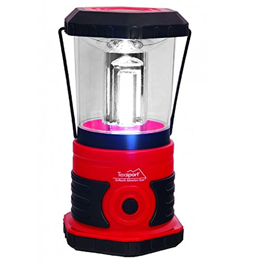 タップ発音する詐欺師Texsport 600 Lumen LED Camp Lantern - Black/Red [並行輸入品]