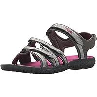 Teva Kids's Tirra Open Toe Athletic & Outdoor Sandals, Silver, Magenta