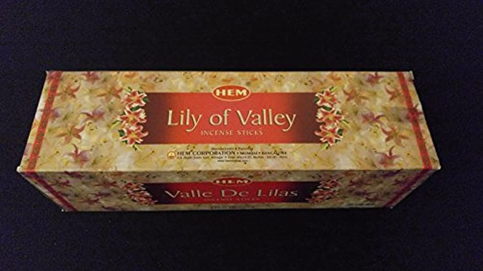 Lily of the Valley 25ボックスof 8 = 200裾Incense Sticks表示バルクケース