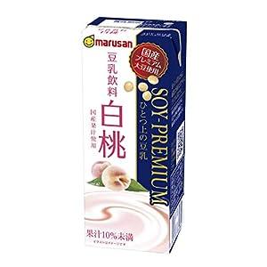 マルサン ソイプレミアムひとつ上の豆乳 白桃 200ml×24本