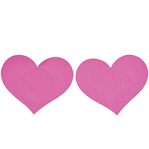 Mak レディース ニプレス 女性用 不織布 薄型 パッド ニップル ヌーブラ ハート形 心 使い捨て 20枚セット 4カラー (ピンク)